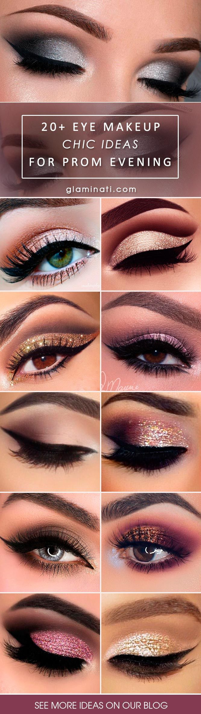 It is time to choose your makeup for prom as the time will go by quickly and there are so many other tasks left to do. Get inspired here.