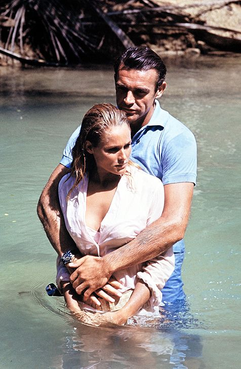 Sean Connery and Ursula Andress filming Dr. No in Jamaica, 1962
