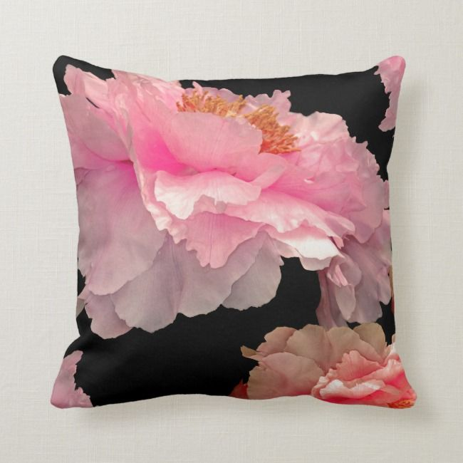 Pas De Deux Peonies American Mojo Pillows Zazzle Com Pillows How To Make Pillows Custom Pillows
