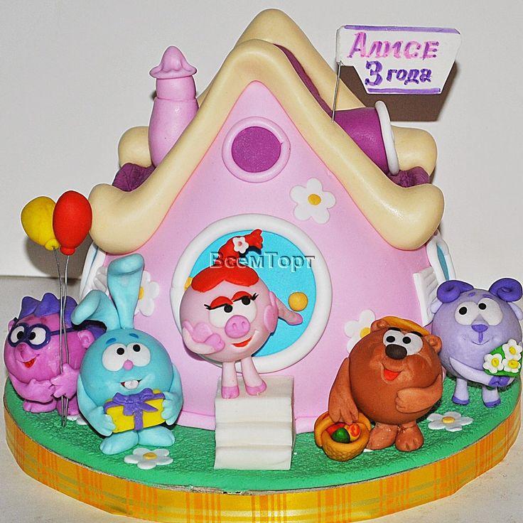 Торт Смешарики. Заказ торта в Москве на день рождения для детей