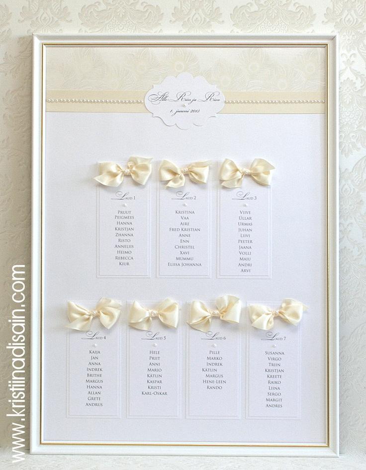 wedding table plan white/ivory
