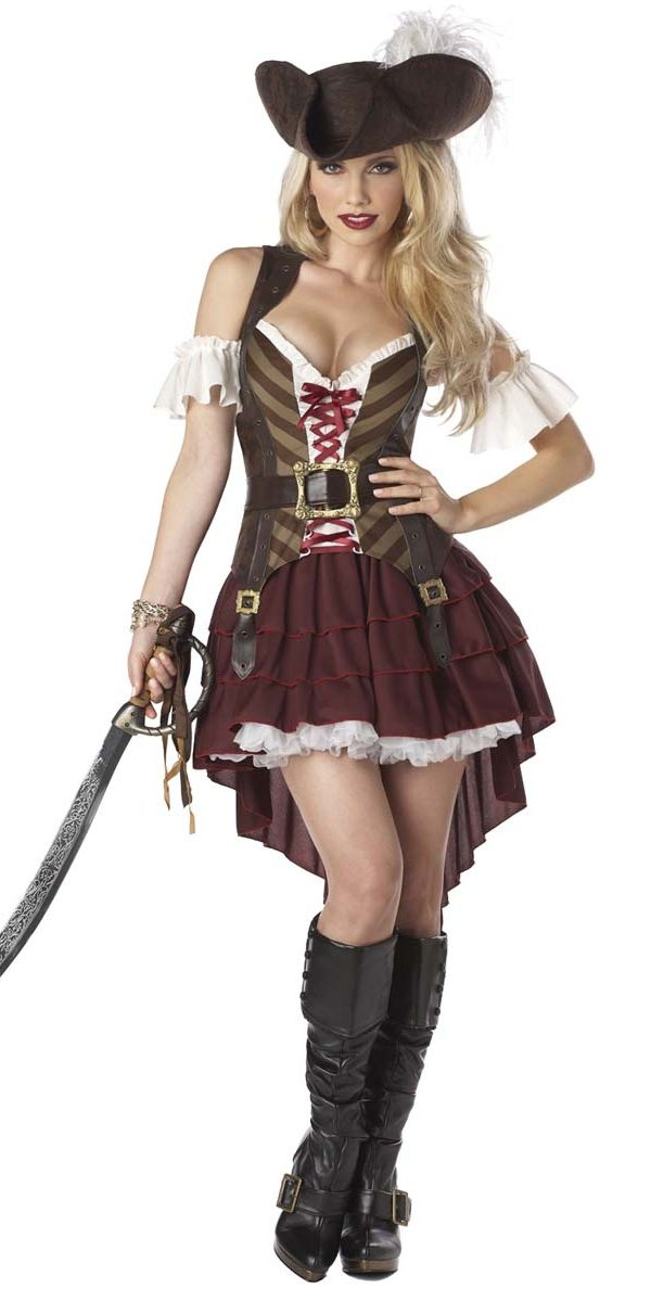 Sexy Swashbuckler Pirate Costume - 01164 - Fancy Dress Ball