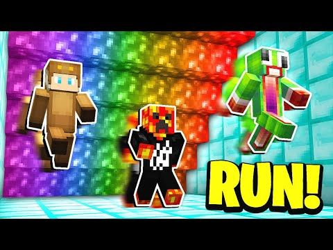 Minecraft RUN FROM THE RAINBOW LAVA! w/ UnspeakableGaming