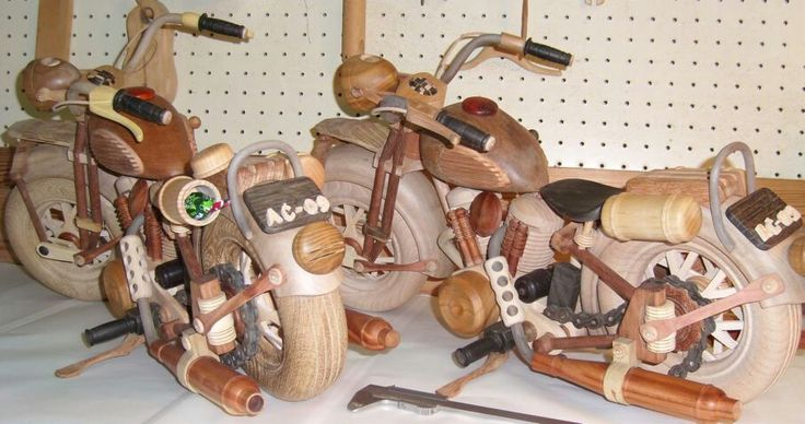 handmade miniature motorcycle. 30 species of wood. Moving parts. perfection gift