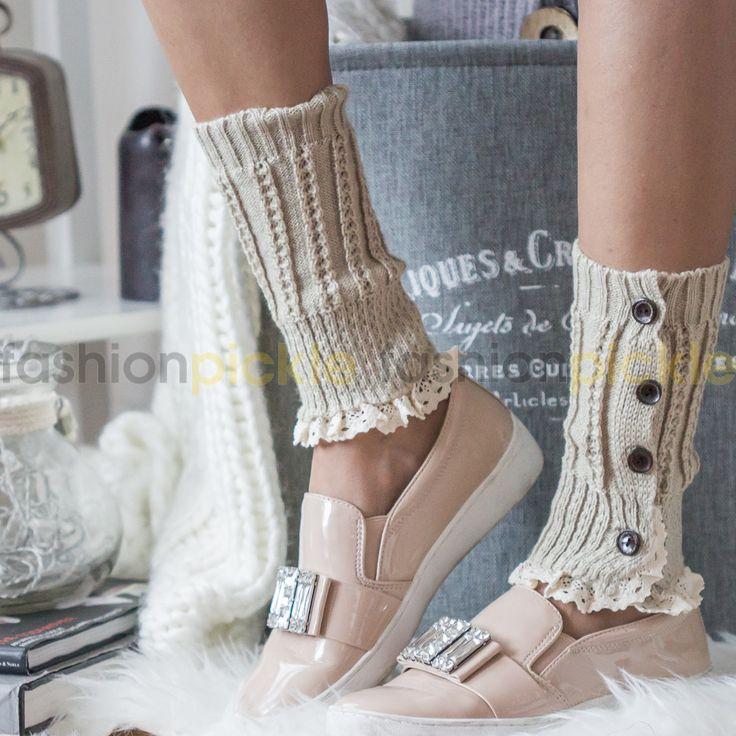 Short Leg Warmer - Beige