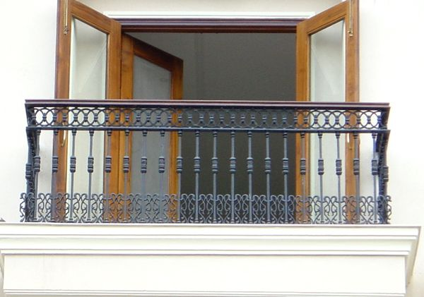 Capping railing with wood enriches the look wrought iron railing for balcony google search - Wooden balcony design ideas perfect harmony ...