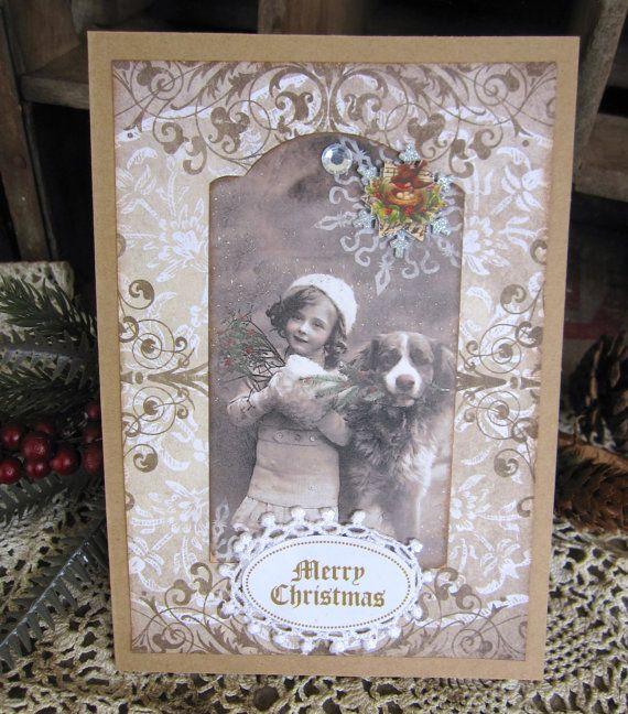 Christmas Card Handmade Card Christmas by KathleenRobinaugh, $5.00