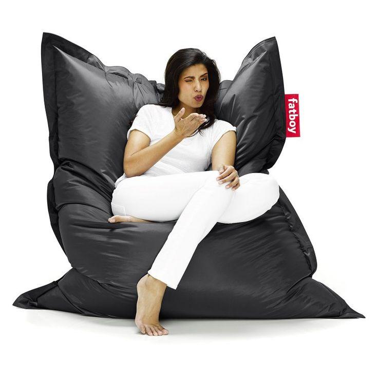 Fatboy Original 6-Foot Extra Large Bean Bag Chair Black - ORI-BLK