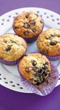 Banana choc chip muffins - New Zealand Womans Weekly