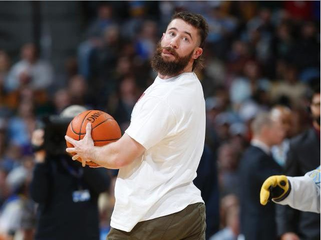 Rockies' Charlie Blackmon Nails Backwards Half-Court Shot = If that baseball thing doesn't work out for Rockies Charlie Blackmon, he might have a career with the Harlem Globetrotters or in the circus. During halftime of the Denver Nuggets game, Blackmon, a 2014 All-Star and emerging Colorado Rockies star, was called upon for a half court shot.....