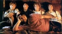 hobbits and peter :) wish i was on this bed.