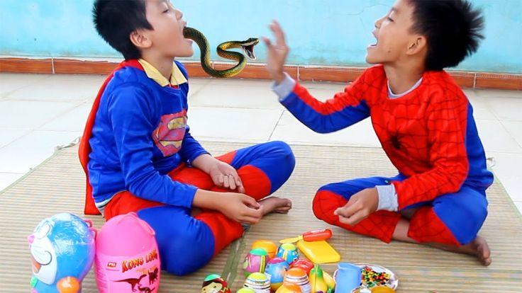 Spiderman vs Superman are sitting eating. Suddenly, Joker appears to ste...
