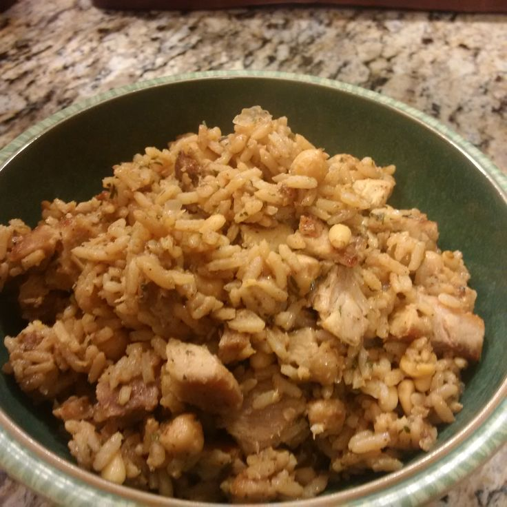 Middle Eastern Rice with Pork and Chickpeas