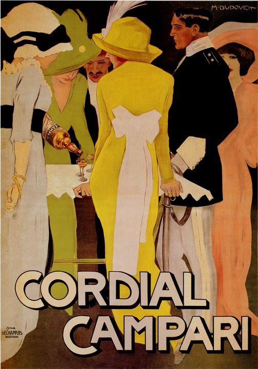 Marcello Dudovich: pittura introspettica della mondanita'.  La socialita' si chiama Cordial Campari. #aperitiv #viveur #vintage #nightlife