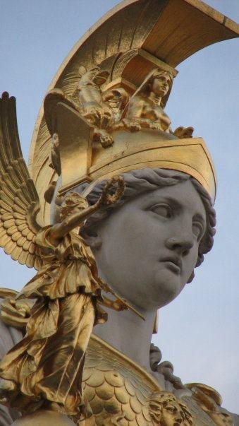 Pallas Athena, parliament building, Vienna (detail).