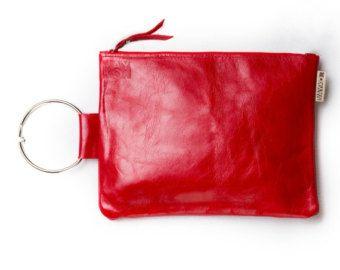 Bracelet de cuir en cuir pochette sac à main Vert par maykobags