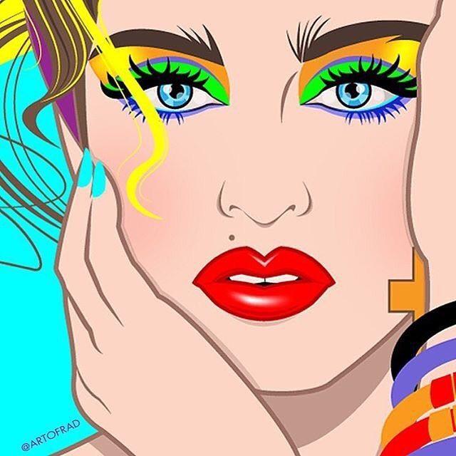 #Madonna #LuckyStar #PopArt by @artofrad ❤️