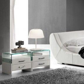 G25 Bedside Table. Available in Synthetic Leather or G-Fabric.
