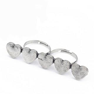 anillos dobles de corazones