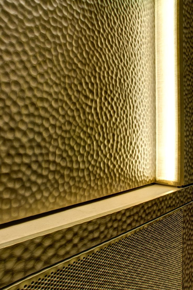 Embossed Brass, as used in the Austrian Opera House, conveys a sense of heritage and glamour.