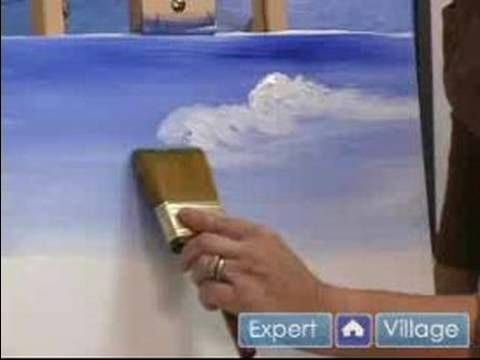 ACRYLIC - How to Paint the Sky & Clouds Using Acrylic Paints in this Free Video Art Lesson.