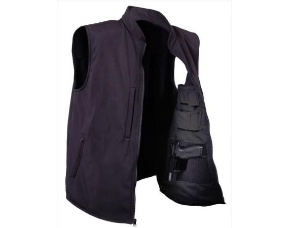 Black Concealed Carry Soft Shell Vest | Vermont's Barre Army Navy Store