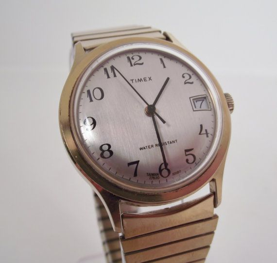 1000 images about ur vintage watches and retro style vintage 1980 timex wind up retro style men s watch by retrorerun 48 00
