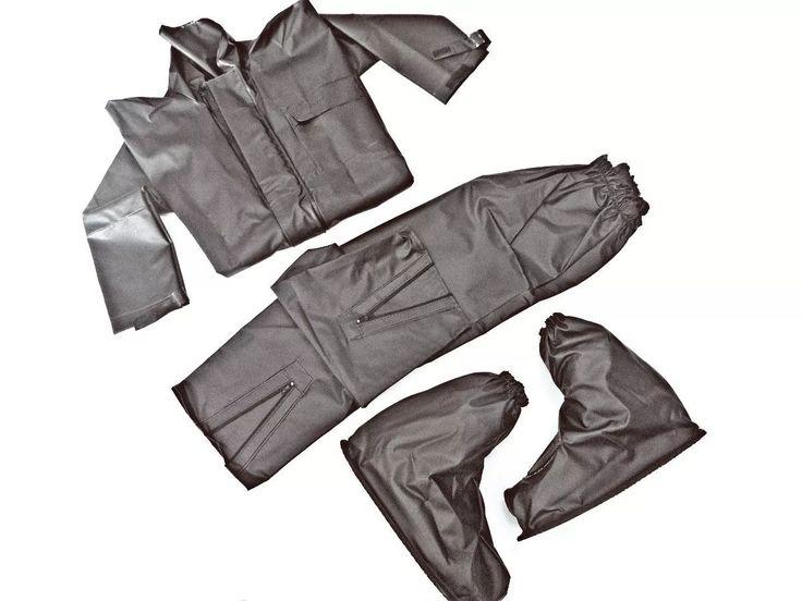 kit capa de chuva + polaina (galocha) pvc - moto motoqueiro