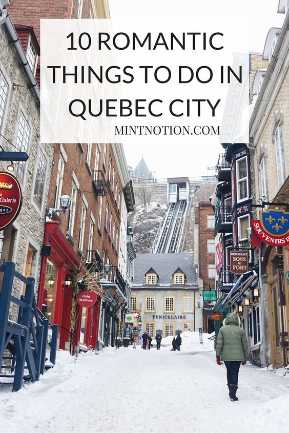 10 romantic things to do in Quebec City. This is one of the most romantic cities in Canada. I love these fun date ideas!
