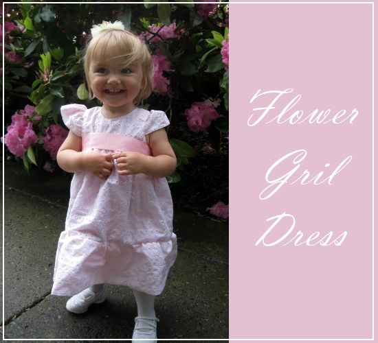 Flower girl dress tutorial- perfect for Easter too!