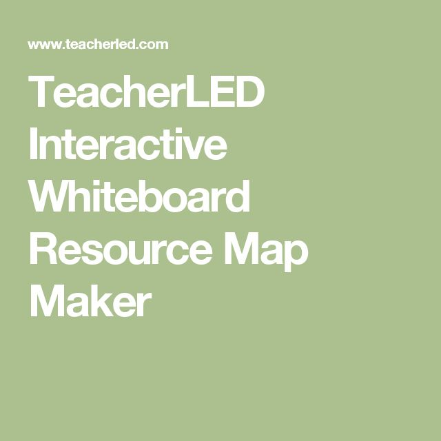TeacherLED Interactive Whiteboard Resource Map Maker