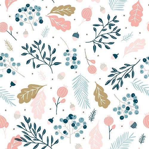 By Cathy Westrell Nordström, founder of Studio Lilla Form: Pastel pattern leaves flowers
