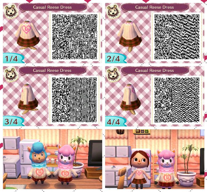 Animal Crossing New Leaf And Animal Crossing Happy Home Designer Casual Reese Dress Qr