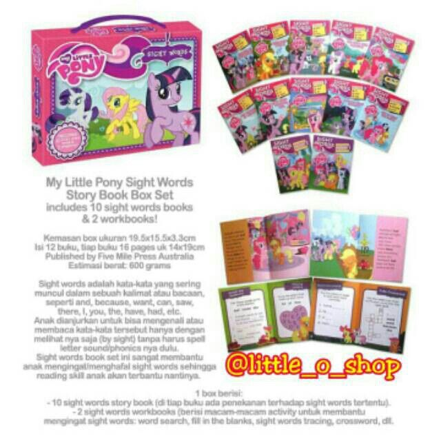 Saya menjual My Little Pony Sight Words Story Book Box Set seharga Rp199.000. Dapatkan produk ini hanya di Shopee! http://shopee.co.id/littleoshop/941078 #ShopeeID