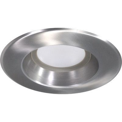 "NICOR Lighting D Series 6"" LED Recessed Retrofit Downlight Finish: Nickel, Bulb Color Temperature: 4000K"