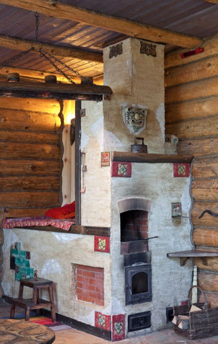 Rural Russian stove beauty.