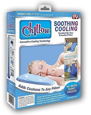 #Chillow pillow innovative cooling pillow soothing anti #sweat #relief sleeping a, View more on the LINK: http://www.zeppy.io/product/gb/2/282072834908/