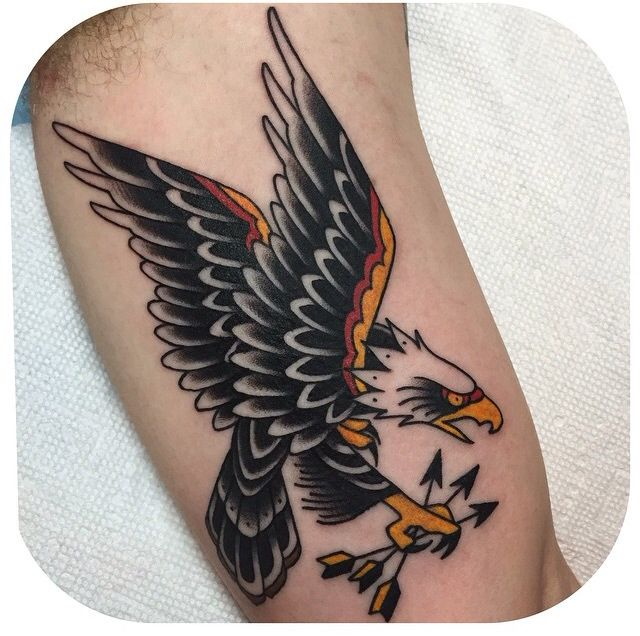 Bald Eagle Becca Genné-Bacon The End Is Near/Hand of Glory Tattoo Brooklyn New York