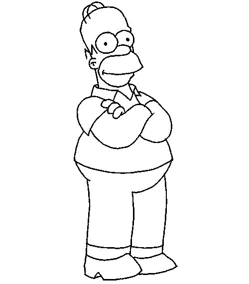 homer relaxed simpsons coloring pages