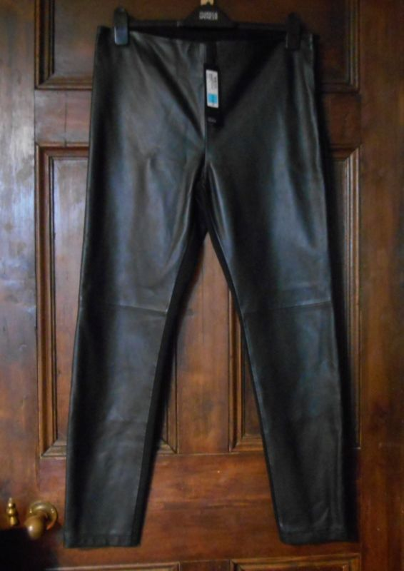 *M & S* Autograph Stretch LEATHER TREGGINGS / TROUSERS Size 14 BNWT rrp £129
