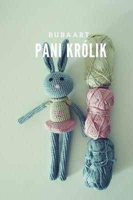BUBAart Pani Królik, crochet, bunny,  rabbit, amigurumi,