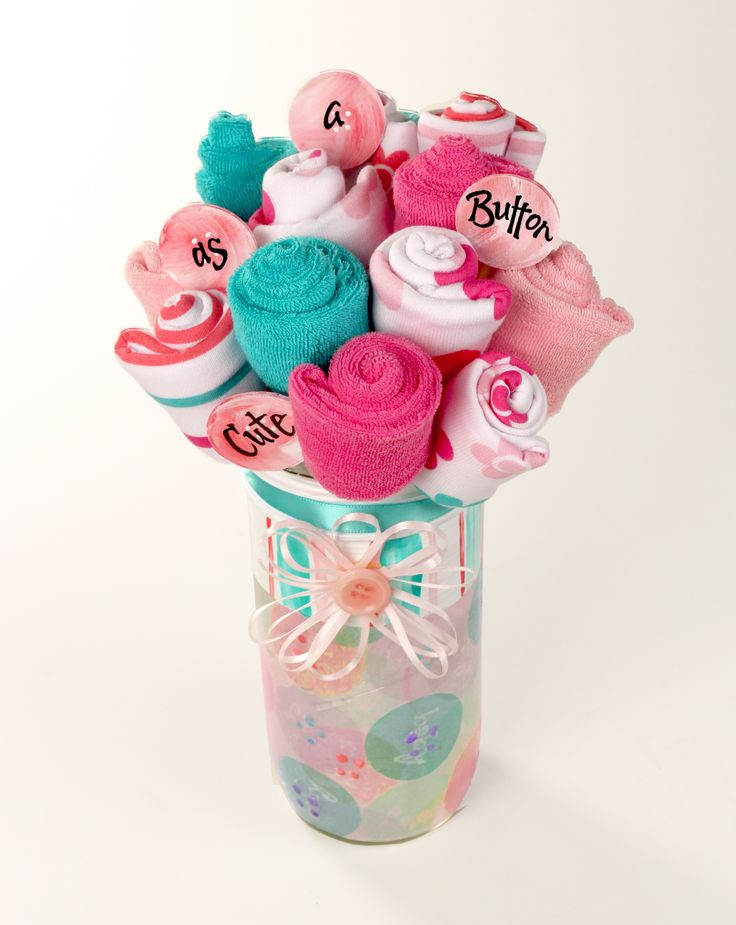 Baby Gift Jars : Baby gift made from ball jar and washcloths