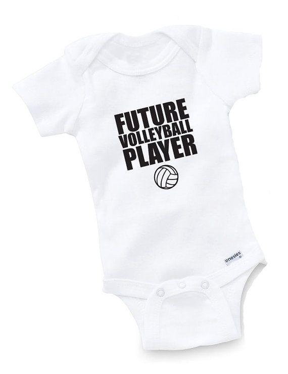 Futura volley giocatore Onesie Body Baby doccia regalo divertente Geek Nerd compleanno ragazzo carino divertente ragazza atleta di sport