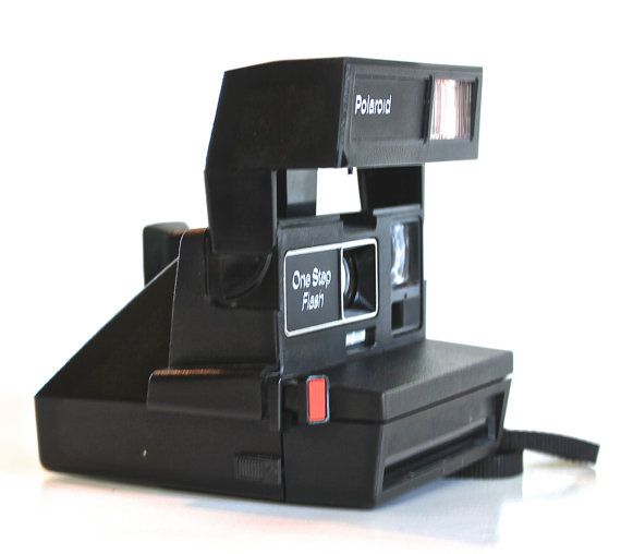 Polaroid One Step Flash 600/ Vintage Instant by CuriousAndVintage