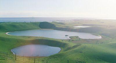 Lakes along coast of the Western District,Victoria, Australia