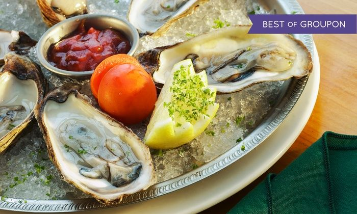 Psari - Astoria: Oysters or Lobster Feast for Two with Wine or Champagne at Psari (Up to 44% Off)