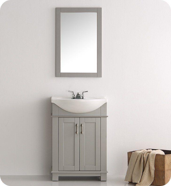 "Fresca FVN2302GR-CMB Hartford 24"" Gray Traditional Bathroom Vanity"