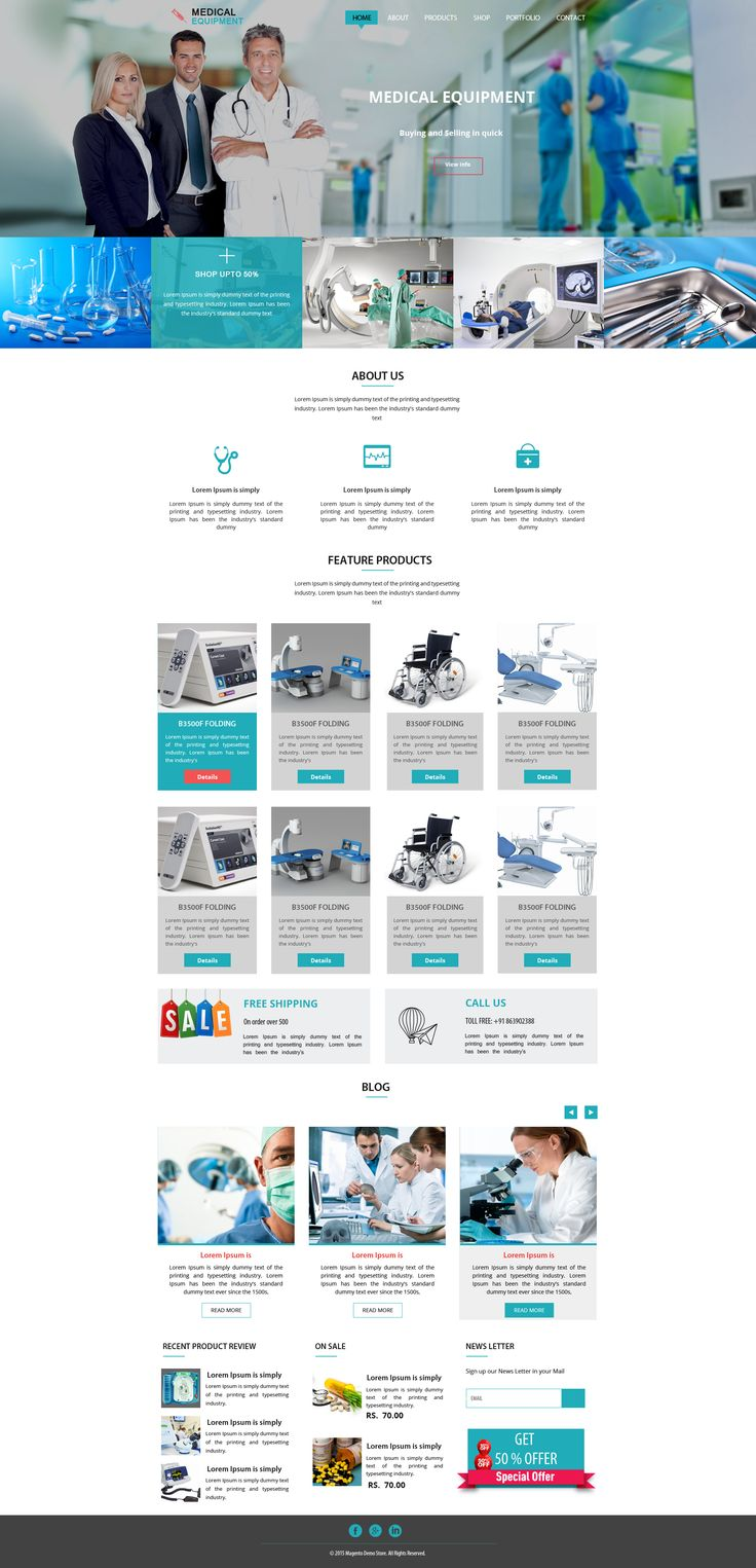 Sell365's Medical Equipment Template. One of the best Website Builder in India. Design and customize your own website with our free website templates.