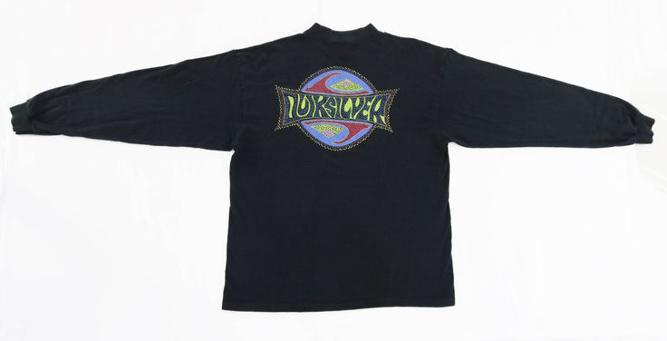 #Vintage #80s #90s #Quiksilver #Graphic #SpellOut #Logo #USA #LongSleeve #Tee #Shirt #Mens #Large #SurfWear #Surfboard #Skateboard #Beach #Powell #Roxy
