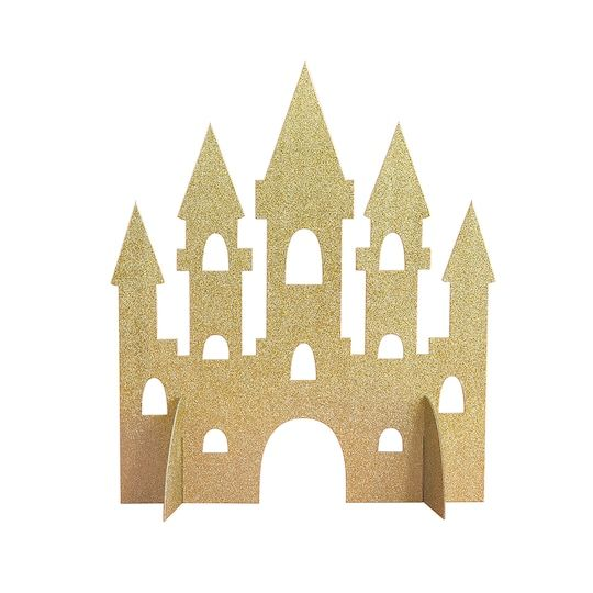 Gold Glitter Magical Princess Castle Centerpiece Decoration, 14″ – DP Wat als: VIP tafels